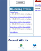 Hotel Website Events